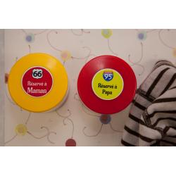 16 étiquettes autocollantes rondes M