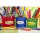 etiquette autocollant design simple ovale moyen format pot a crayons