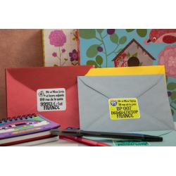 12 étiquettes autocollantes format adresse