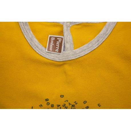 etiquette thermocollant design simple carre petit format pyjama jaune