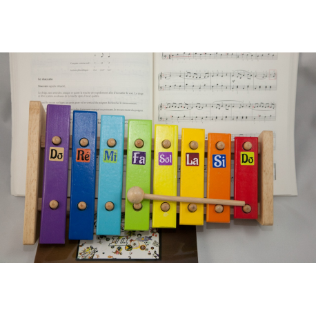 etiquette autocollant design simple carre petit format xylophone