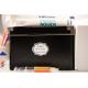 etiquette autocollant design art deco base rectangle moyen format boite classe neige