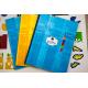 etiquette autocollant design retro base rectangle moyen format cahier avec adresse