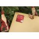 etiquette de noel rouge cadeau or