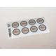 etiquette autocollant design retro ronde moyen format planche marron