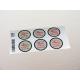 etiquette autocollant design retro ronde grand format planche marron