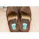 etiquette autocollant design specifique pied moyen format senior chausson