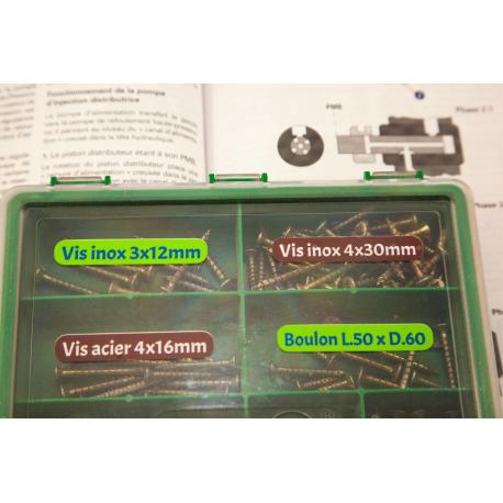 etiquette autocollant design simple rectangle moyen format maison boite outils