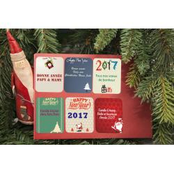 Pack 48 étiquettes nouvelle année