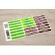 etiquette autocollant design simple rectangle moyen format maison planche