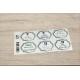 etiquette autocollant design art deco base rectangle moyen format planche gris vert
