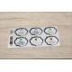 etiquette autocollant design art deco base rectangle moyen format planche gris bleu