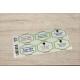 etiquette autocollant design retro base rectangle moyen format planche vert