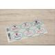 etiquette autocollant design retro base rectangle moyen format planche gris