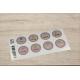 etiquette autocollant design retro ronde moyen format planche violet