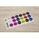 etiquette autocollant design simple ronde petit format planche