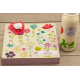 Pack naissance etiquette autocollante cahier de vie et biberon
