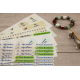 Pack decouverte etiquette thermocollante autocollante pour marquer les affaires adultes et enfants